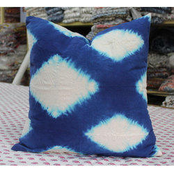 Tie Dye Hand Printed Cotton Cushion Cover