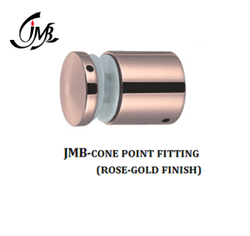 Stainless Steel Cone Point Fitting Rosegold Finish