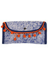 Cotton Durrie And Faux Leather Tribal Printed Red Pouch Bags