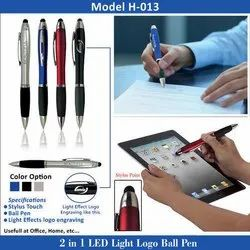 2 in 1 LED Light Logo Ball Pen H-013