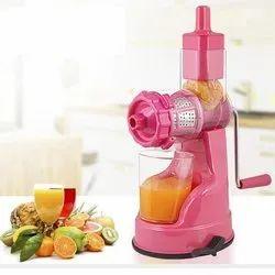 Pink Plastic Hand Juicer Machine