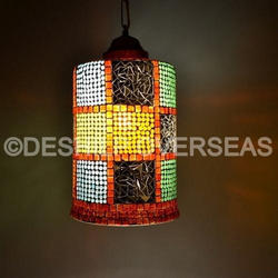 Color Mosaic Hanging Light