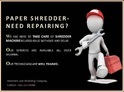 Paper Shredder Machine Repair