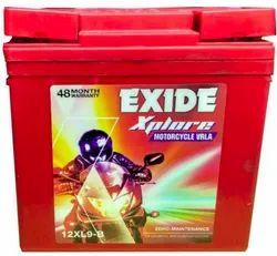 Exide 12XL9 B Bike Batteries, Battery Type: Vrla, Capacity: 9 Ah