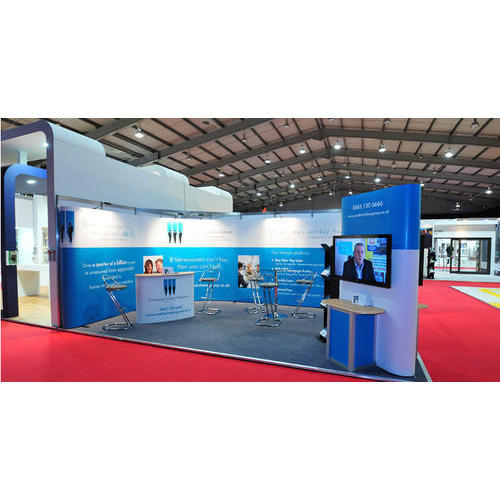 Exhibition Booth Shell Scheme : Customized shell scheme exhibition stall at rs square meter