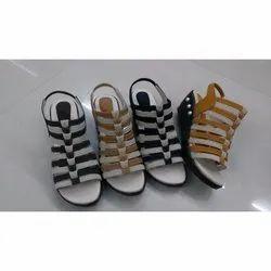Party Wear Leather Womens Wedge Heel Sandal, Size: 7-12