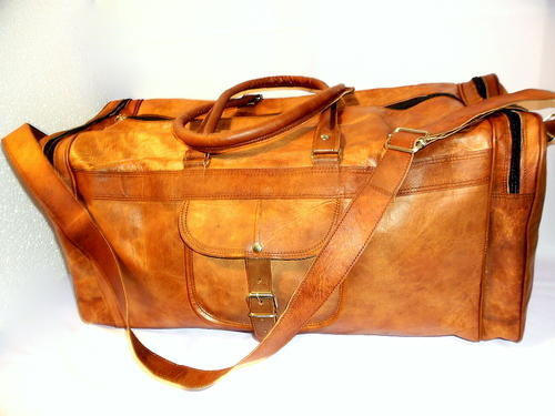 44790a3746b4 Goat Leather Bags - Basic duffel leather bag Exporter from Jaipur