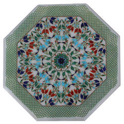 High Quality Marble Pietra Dura Inlay Dining Table Top