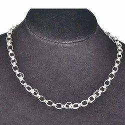 Plain Silver Necklace
