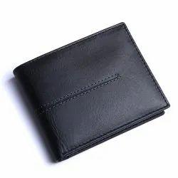 Blister Hide Leather Men Black Wallet