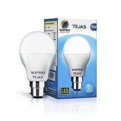 Copper Flat Top Wipro LED Bulb, Base Type: E40 and E27