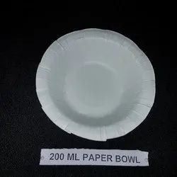 White Round 200 Ml Paper Bowl, For Event and Party Supplies, Single Side
