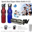 Sports Steel Sipper Water Bottle H-115