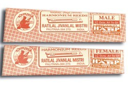 Narrow Tongue Harmonium Reeds