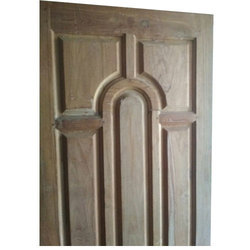 Teak Wood Panel Door, Thickness: 15 to 20 mm