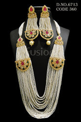 Antique Beaded Pearl Necklace Set