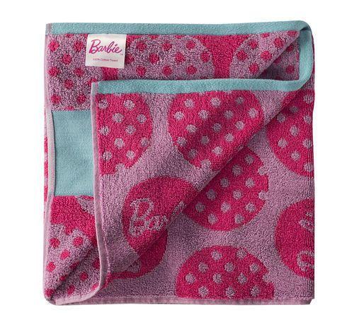 Cotton Plain BARBIE Bath Towel Jacquard Design Size 48x48 Cm Interesting Bathroom Towel Design