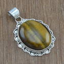 Tiger Eye Gemstone Fancy Jewelry Nice Silver Set
