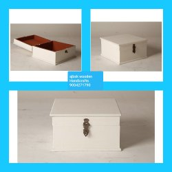 Polished Natural Wood Wooden Box, For Event