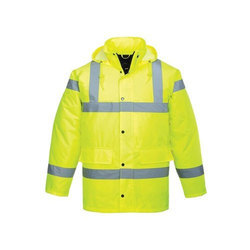 Nylon Plain High Visibility Safety Jackets, Application: Construction