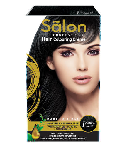 dae200bf7 Salon Black Professional Hair Colouring Creme- Natural Black