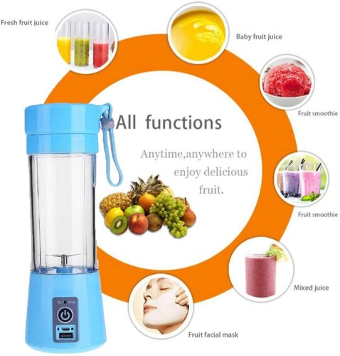 Portable USB Electric Blender Juicer Cup Plastic Fruit Juicer ...