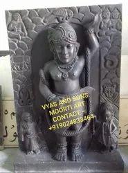 Black Stone Shrinath Ji Statue