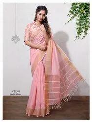 Impressive Linen Saree