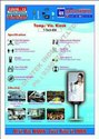 Temperature Monitor Cum Sanitizer Dispenser Visitor Display Kiosk Covid19