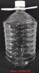 Plastic Edible Oil Bottles, Capacity: 5.0Lt