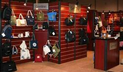 Bags Display On Slatwall Board