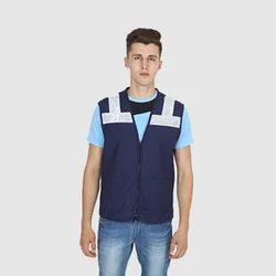UB-VEST-NAV-HV-0002 Vest Jackets