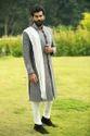 Scot Wilson Pure Linen Fabric Gudha Sherwani