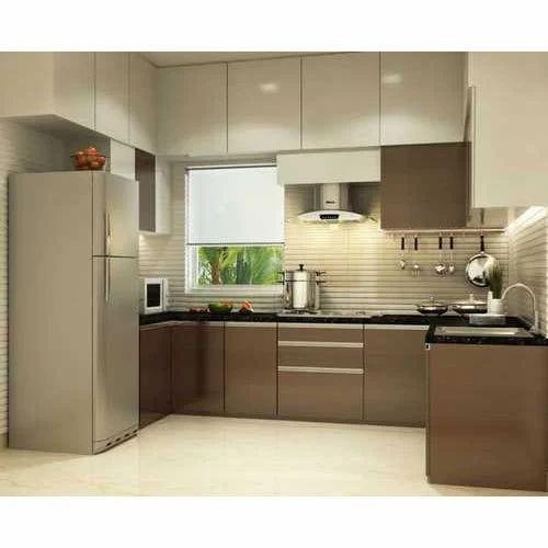Interior Design Kitchen Photos: Brown Modular Kitchen Cabinet, Rs 2250 /square Feet