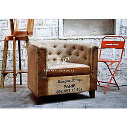 Hotel Furniture - Tufted Back Armchair - Resort Furniture - Hospitality Bedroom Accent Armchair