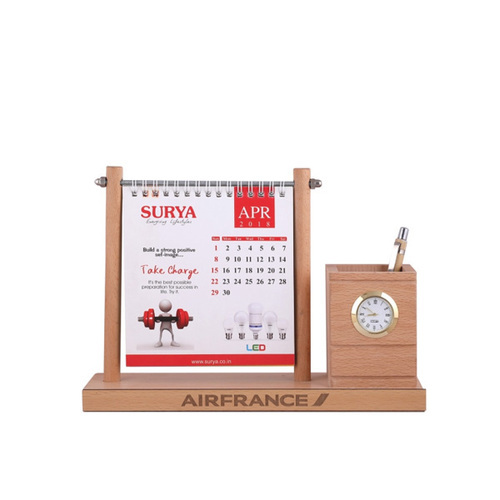 Table Calendar With Pen Stand
