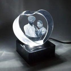 Heart Shape Crystal Frame