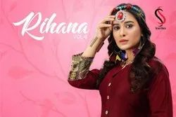 Rihana Vol -6 Casual Wear For Rayon Plain Kurtis