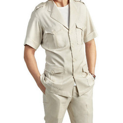Mens Cotton Safari Suit, Size: S - XXL