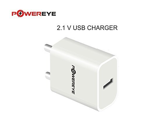 POWEREYE 2.1A Fast Mobile Charger (White)