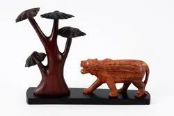 Roaring Tiger and a Tree- Rosewood