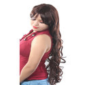 36 Inch Brown Women Long Curly Synthetic Wig