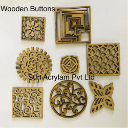 Ladies Kurtis Wooden Button