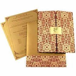 Rectangular Paper Designer Marriage Invitation Card