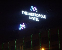 Hotel Neon Sign Hoarding