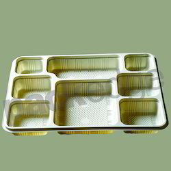 Disposable 8 CP Ivory Meal Tray