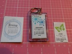 Foldable Calendar Key Chain