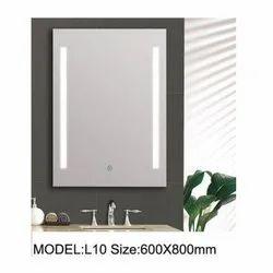 Rectangular Decorative Glass Mirror, Size: 600x800 Mm