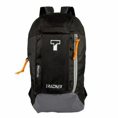 7ab63db95c23 Black And Grey Tracker Designer Nylon Travel Backpack