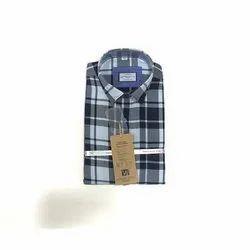 Checked Collar Neck Men Check Cotton Shirt